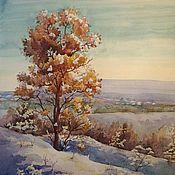 Картины и панно ручной работы. Ярмарка Мастеров - ручная работа Зимний пейзаж в Бахчисарае. Handmade.