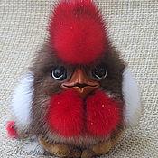 Куклы и игрушки handmade. Livemaster - original item Rooster-keychain contains Rudik. Toy fur. Handmade.