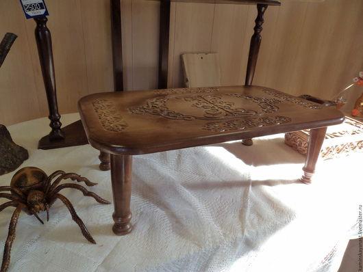 Мебель ручной работы. Ярмарка Мастеров - ручная работа. Купить столик-поднос. Handmade. Коричневый, столик кофейный, поднос для кухни