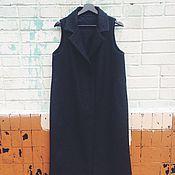 Одежда ручной работы. Ярмарка Мастеров - ручная работа Жилет из серой пальтовой ткани. Handmade.