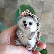 Украшения handmade. Livemaster - original item Brooch Hedgehog puffy wool. Handmade.
