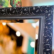 Для дома и интерьера ручной работы. Ярмарка Мастеров - ручная работа Зеркало в деревянном багете 35х85см.. Handmade.