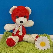 Куклы и игрушки ручной работы. Ярмарка Мастеров - ручная работа Мишка -валентинка. Handmade.