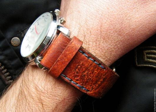 """Часы ручной работы. Ярмарка Мастеров - ручная работа. Купить Ремешок для часов """"PILOT"""". Handmade. Ремешок, натуральная кожа"""