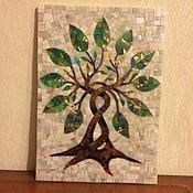 """Картины и панно ручной работы. Ярмарка Мастеров - ручная работа Мозаичное панно """"дерево"""" (символ роста и процветания дома). Handmade."""