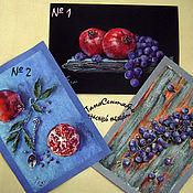 Картины и панно handmade. Livemaster - original item Paintings: pastel drawing painting still life fruit POMEGRANATES and GRAPES. Handmade.
