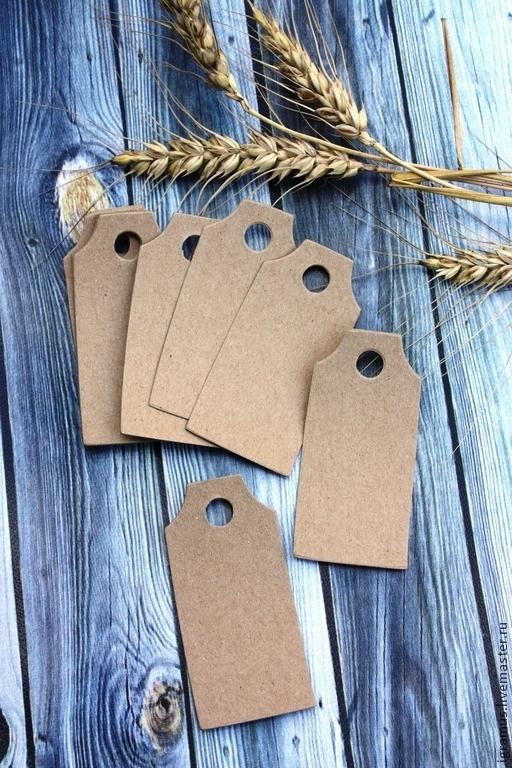 Упаковка ручной работы. Ярмарка Мастеров - ручная работа. Купить Бирка из крафт картона (прямоугольная). Handmade. Коричневый, крафт картон