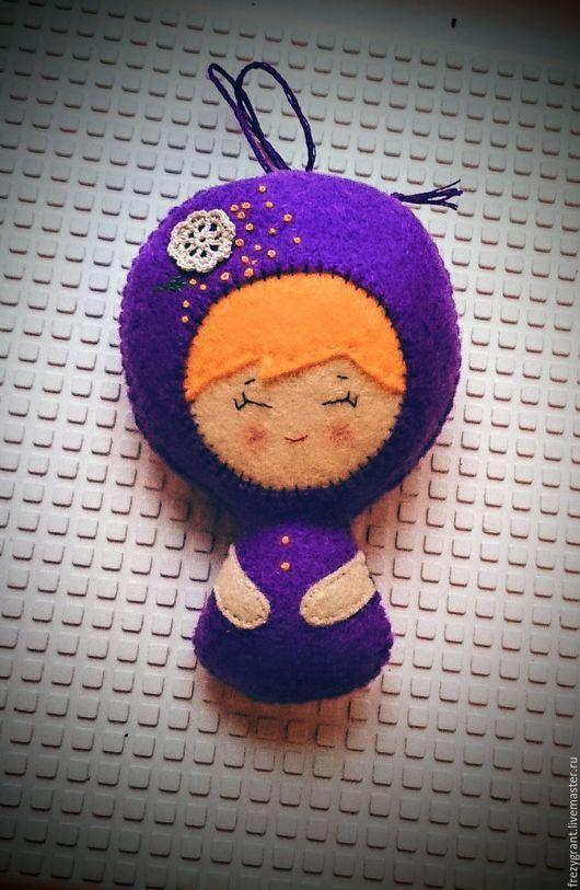 Коллекционные куклы ручной работы. Ярмарка Мастеров - ручная работа. Купить Куколка-фетринка фиолетовая. Handmade. Noia land