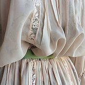 Одежда ручной работы. Ярмарка Мастеров - ручная работа Платье 2071 шифон пудра. Handmade.