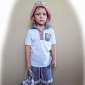 Работы для детей, ручной работы. Ярмарка Мастеров - ручная работа Комплект для мальчика - футболка + шорты. Handmade.
