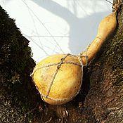 Посуда ручной работы. Ярмарка Мастеров - ручная работа Декоративная фляга, кувшин из лагенарии (тыквы горлянки). Handmade.