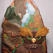 """Картины и панно ручной работы. Ярмарка Мастеров - ручная работа Панно """"Хранитель дубовой рощи"""". Handmade."""