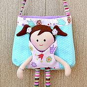 Работы для детей, ручной работы. Ярмарка Мастеров - ручная работа Сумка-игрушка для девочки. Handmade.