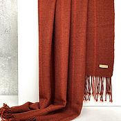 Палантины ручной работы. Ярмарка Мастеров - ручная работа Шарф тканый шарф палантин кирпичный теплый. Handmade.