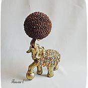 Подарки к праздникам ручной работы. Ярмарка Мастеров - ручная работа Слоник с кофе. Handmade.