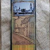 """Канцелярские товары ручной работы. Ярмарка Мастеров - ручная работа Закладка из коллекции  """"Шерлок и Лондон"""" (№ 5). Handmade."""