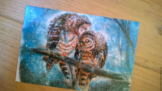 """Открытки на все случаи жизни ручной работы. Ярмарка Мастеров - ручная работа. Купить Почтовая открытка """" Нежность """" """". Handmade."""