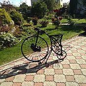 Для дома и интерьера ручной работы. Ярмарка Мастеров - ручная работа кованый велосипед ретро мотоцикл скульптура стимпанк. Handmade.