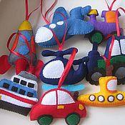 Подарки к праздникам ручной работы. Ярмарка Мастеров - ручная работа Транспорт на ёлочку. Handmade.