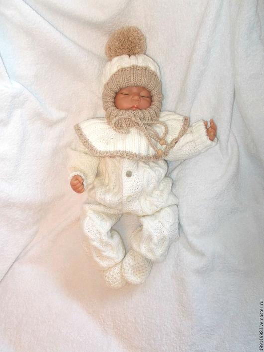Для новорожденных, ручной работы. Ярмарка Мастеров - ручная работа. Купить Комплект Волны аранов. Handmade. Белый, араны