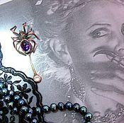 """Украшения ручной работы. Ярмарка Мастеров - ручная работа Брошь """"Black widow"""". Handmade."""