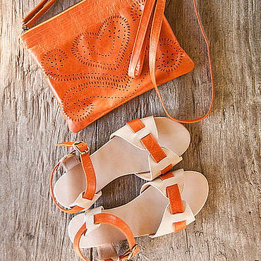 Обувь ручной работы. Ярмарка Мастеров - ручная работа Сандалии женские кожаные Jess II. Handmade.