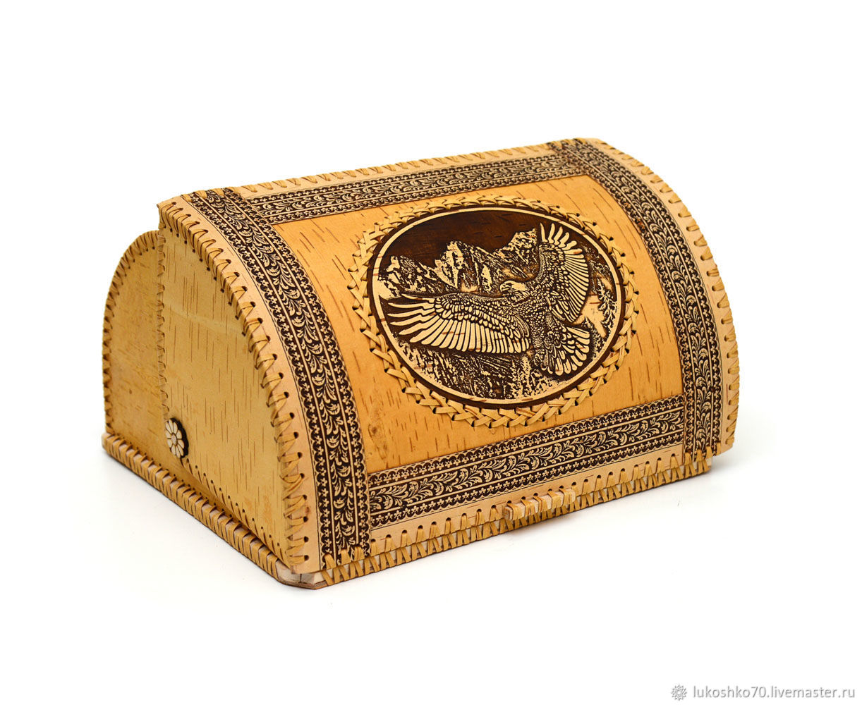 Bread box made of birch bark large ' Orlan'. The amount of wood, The bins, Tomsk,  Фото №1