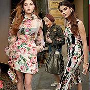 "Ткань Dolce&Gabbana ""Розы""шелк-шифон"