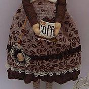 Куклы и игрушки ручной работы. Ярмарка Мастеров - ручная работа Кофейная тильда Бьянка. Handmade.