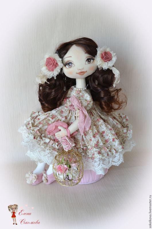 Коллекционные куклы ручной работы. Ярмарка Мастеров - ручная работа. Купить Роза. В розовом саду. Текстильная интерьерная кукла.. Handmade.