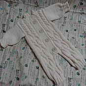 """Работы для детей, ручной работы. Ярмарка Мастеров - ручная работа Комбинезон вязаный """"Прогулка"""" нежный.. Handmade."""