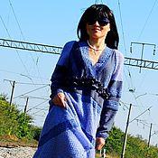 Одежда ручной работы. Ярмарка Мастеров - ручная работа Платье зимнее из ангоры и мохера с кружевом (№199). Handmade.