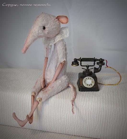 """Игрушки животные, ручной работы. Ярмарка Мастеров - ручная работа. Купить Крыса РОЗОВАЯ """"Сердце, полное нежности"""" БАЗОВАЯ серия. Handmade."""