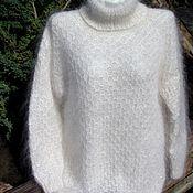 Свитеры ручной работы. Ярмарка Мастеров - ручная работа Пуховый свитер --- Белая магия---. Handmade.