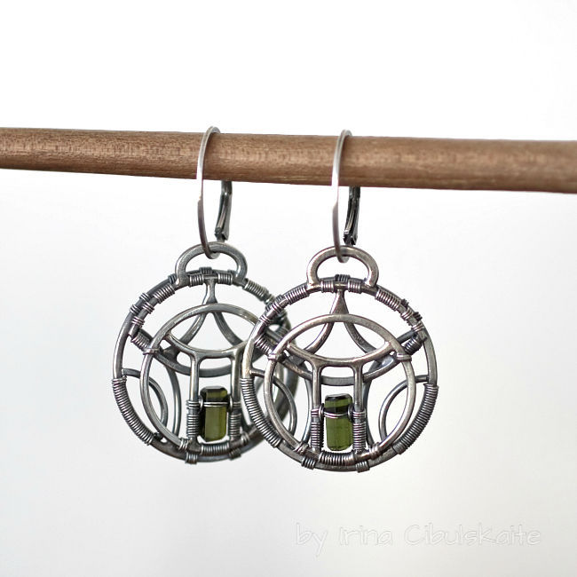 Pagoda Sterling Silver Earrings With Tourmaline Shop Online On Livemaster With Shipping Chjgjcom Tallinn