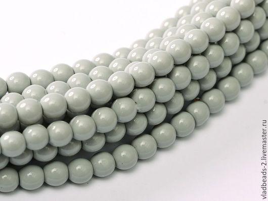 Для украшений ручной работы. Ярмарка Мастеров - ручная работа. Купить Бусины 4мм чешские стеклянные Grey Mist. Handmade.