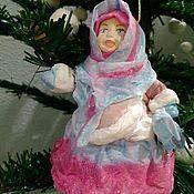 Куклы и игрушки ручной работы. Ярмарка Мастеров - ручная работа Ватная елочная игрушка Плясунья. Handmade.