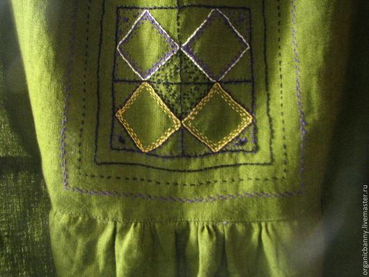 Платья ручной работы. Ярмарка Мастеров - ручная работа. Купить Сарафан с вышивкой по мотивам стиля Арт-деко. Handmade. Сарафан