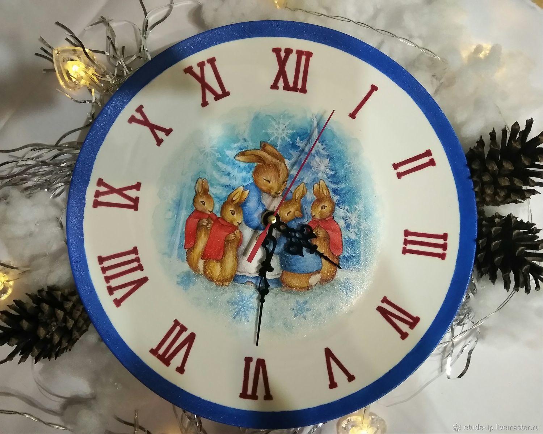 Часы: Зайки, Часы классические, Липецк,  Фото №1