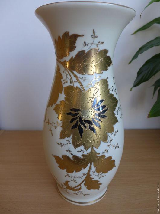 Винтажные предметы интерьера. Ярмарка Мастеров - ручная работа. Купить Роскошная старинная ваза с ручной росписью, фарфор, Германия. Handmade.