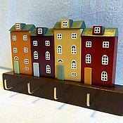 Для дома и интерьера ручной работы. Ярмарка Мастеров - ручная работа вешалка-ключница. Handmade.