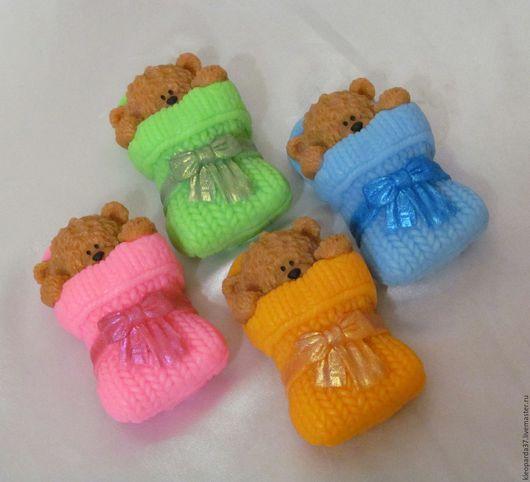 """Мыло ручной работы. Ярмарка Мастеров - ручная работа. Купить Мыло сувенирное """"Тедди малыш"""".. Handmade. Комбинированный, тедди мишка"""