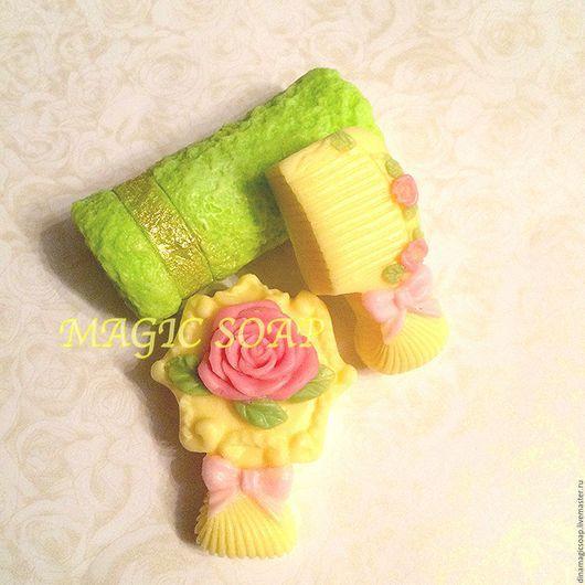 Мыло ручной работы. Ярмарка Мастеров - ручная работа. Купить набор мыла для девочек Расческа + Зеркальце. Handmade. Комбинированный