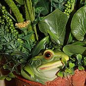 Цветы и флористика handmade. Livemaster - original item The frog may be but the Princess. country house. Handmade.