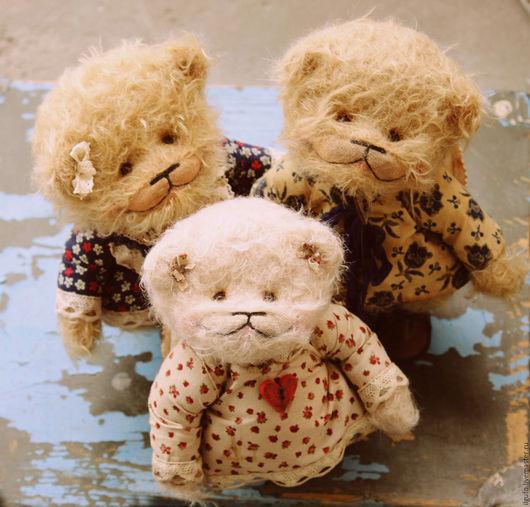 Мишки Тедди ручной работы. Ярмарка Мастеров - ручная работа. Купить ангелы ВЕРА НАДЕЖДА ЛЮБОВЬ. авторский мишка тедди. Handmade.
