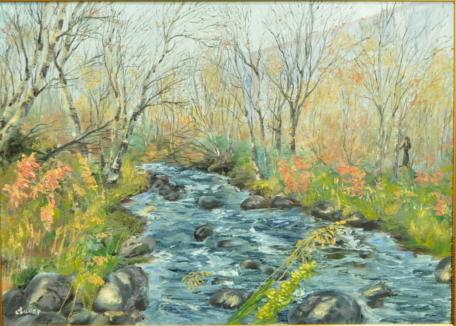 Oil painting landscape of North 50/70 'Fadeyev Ruchey', Pictures, Murmansk,  Фото №1