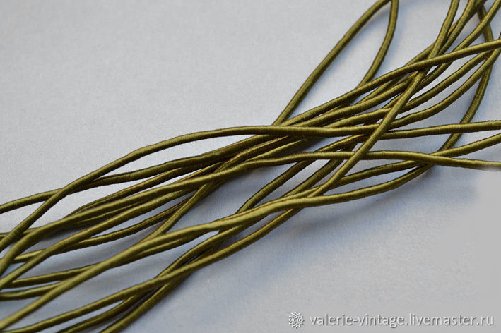 Vintage silk harness color Olivine, Cords, Moscow,  Фото №1
