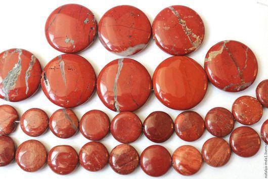 Для украшений ручной работы. Ярмарка Мастеров - ручная работа. Купить Яшма красная таблетка (2 размера). Handmade.