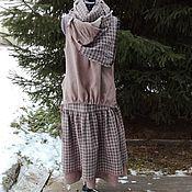 Одежда ручной работы. Ярмарка Мастеров - ручная работа №195.2 Комплект юбка+шарф+жилет. Handmade.