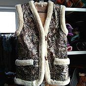 Одежда handmade. Livemaster - original item Women`s fur vests.Sheepskin.44,46,48. Handmade.